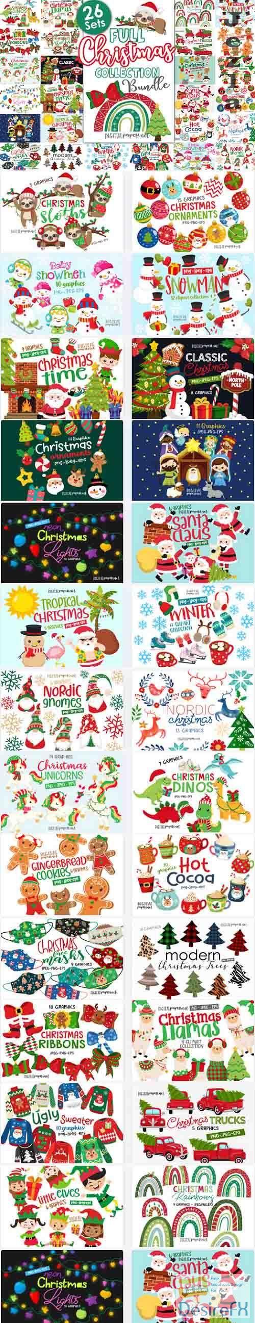 Full Christmas Collection Bundle - 26 Premium Graphics