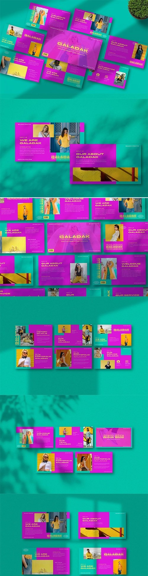 Galadak Creative Powerpoint, Keynote and Google Slides Template