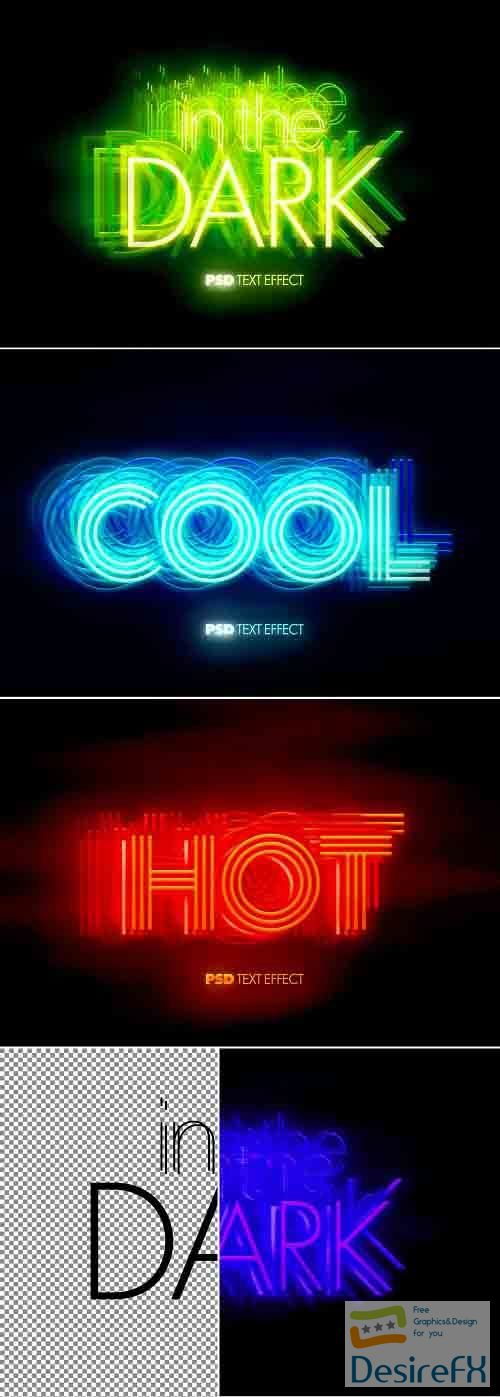 Glowing Hot and Cool Text Effect Bundle 393403992
