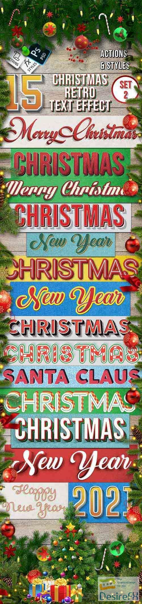 GraphicRiver - Christmas Retro Text Effect Set 2 - 15 Different Styles 29417802