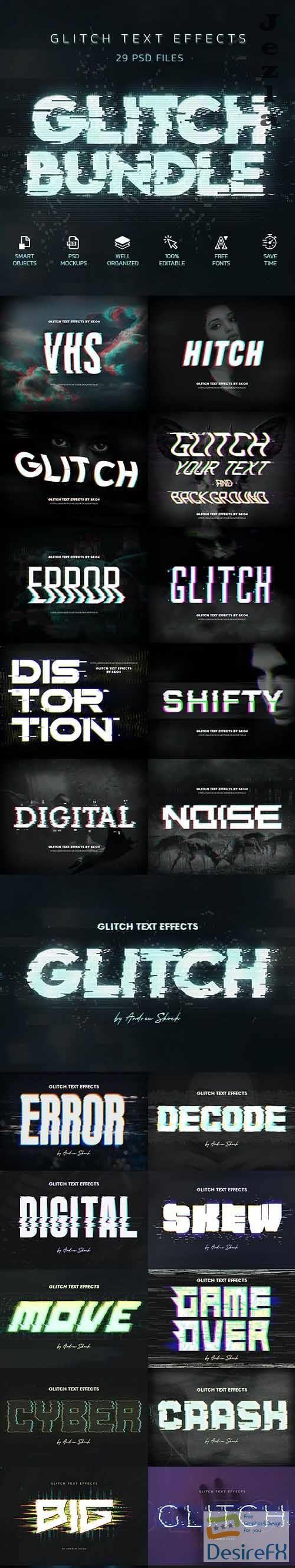 GraphicRiver - Glitch Effects Bundle 29750877