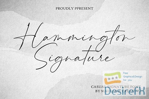 Hammington Casual Signature Script Font