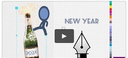 Happy New Year Greetings - Inkman 25354525