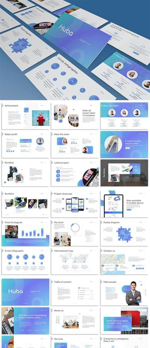 Huba - Creative Powerpoint Template