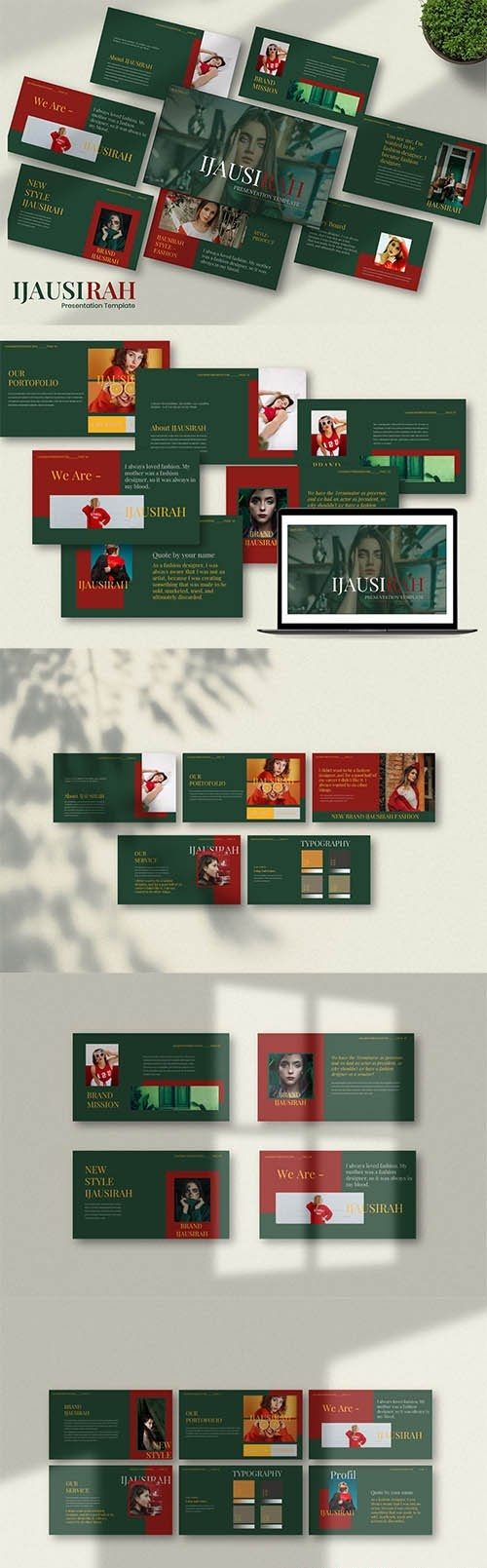 Ijausirah Creative Powerpoint, Keynote and Google Slides Template