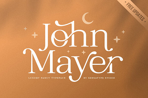 John Mayer - Fancy Ligature Font