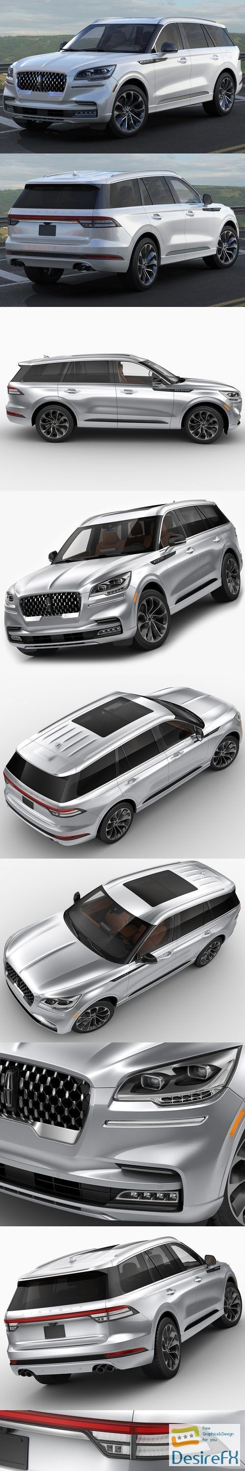 Lincoln Aviator 2020 3D Model