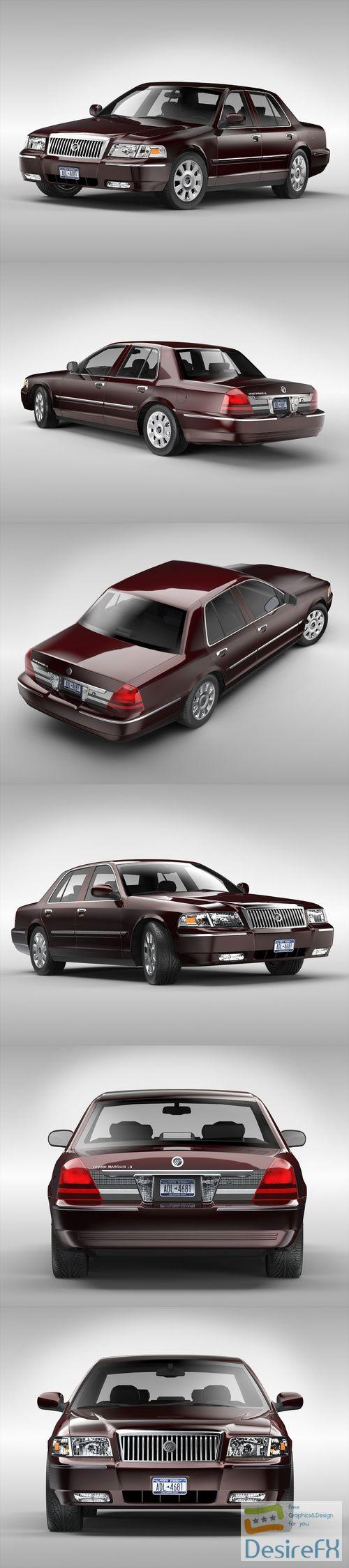 Mercury Grand Marquis 2003-2011 3D Model