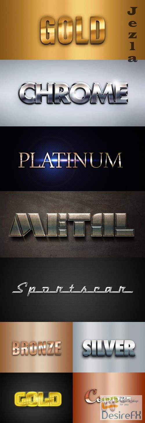 Metal Text Effects Mockup Collection 400839997
