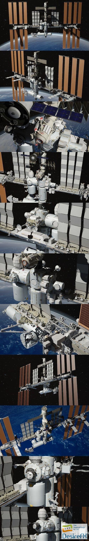 NASA International Space Station 3D Model
