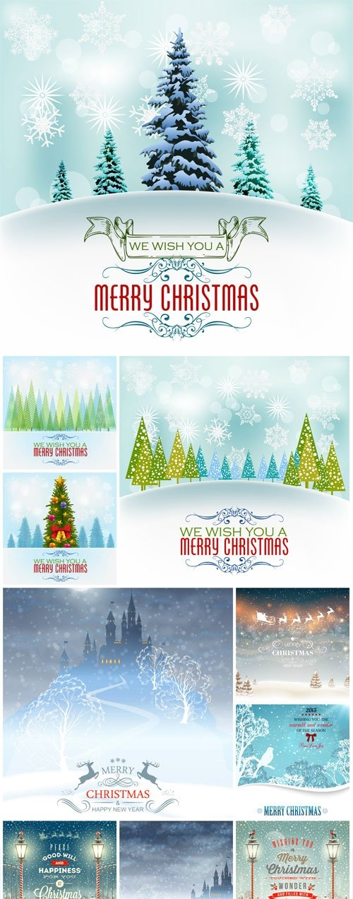 New Year and Christmas illustrations in vector - 29