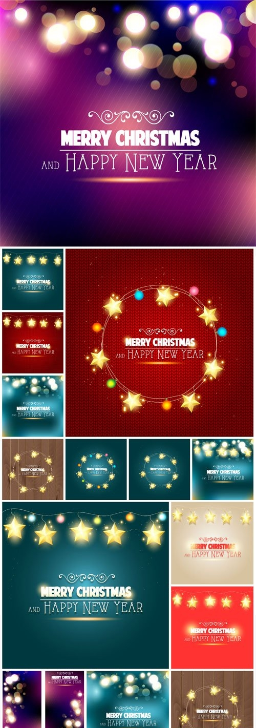 New Year and Christmas illustrations in vector - 35