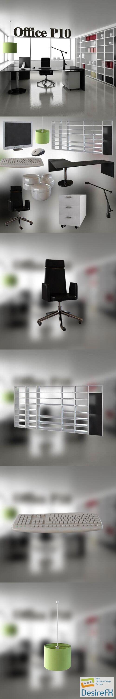 Office Set P10 3D Model