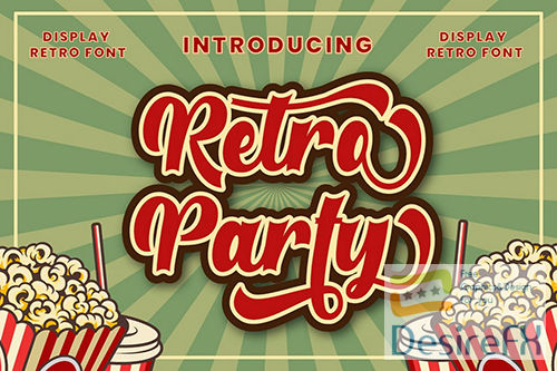 Retro Party - Display Retro Font