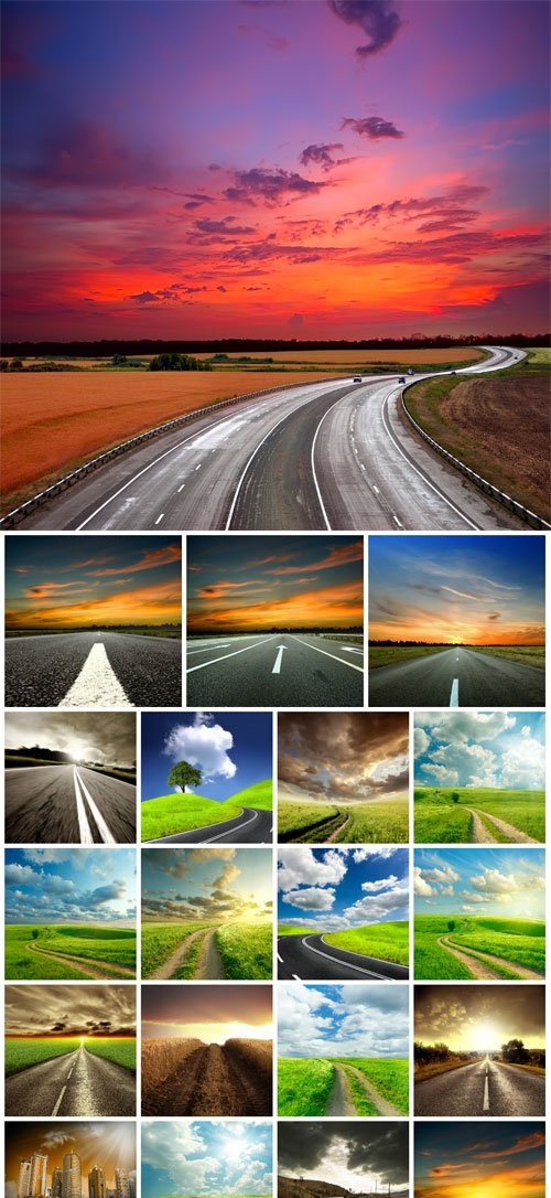 Road, track, highway stock photo