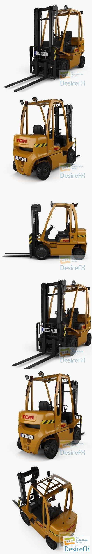 TCM FD35-E1 Truck 2019 3D Model