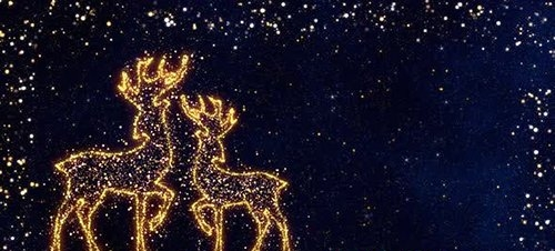 The Festive Glitter With Reindeers 29416685
