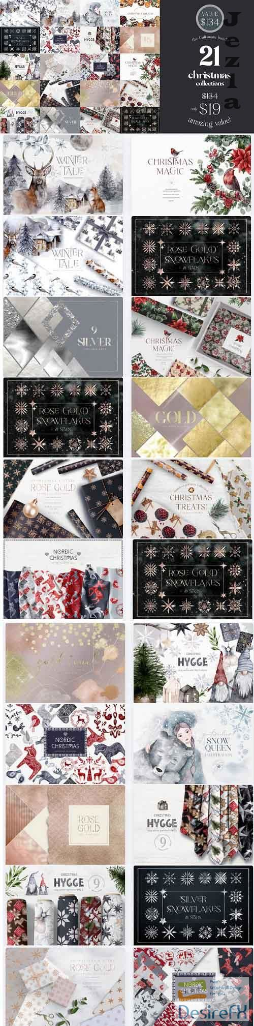 The Ultimate Christmas Collection Bundle - 21 Premium Graphics