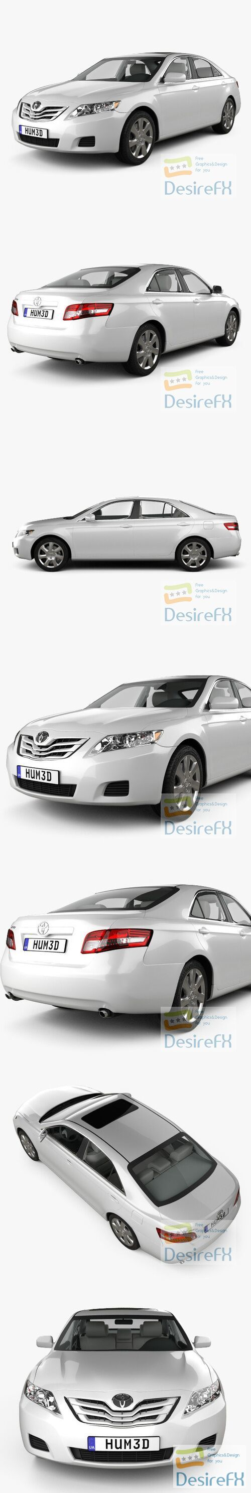 Toyota Camry LE 2010 3D Model