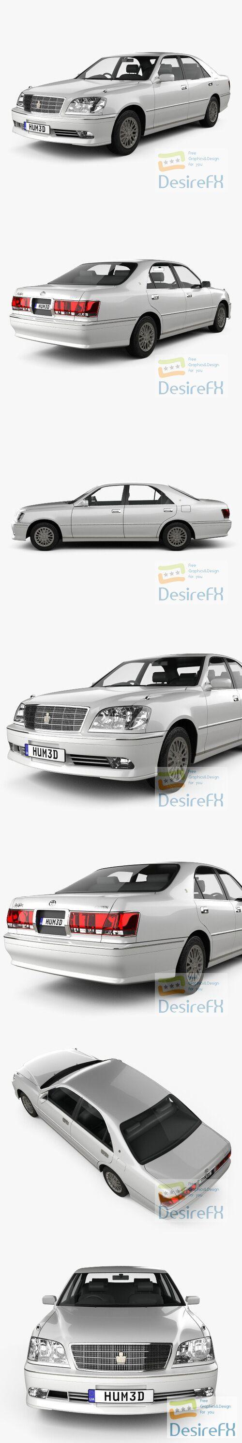Toyota Crown Royal Saloon 2001 3D Model