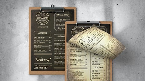 Vintage Food Menu - Single Page - A4 & US Letter