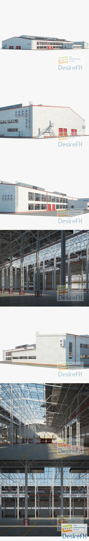 Warehouse 01 Building 3D Model