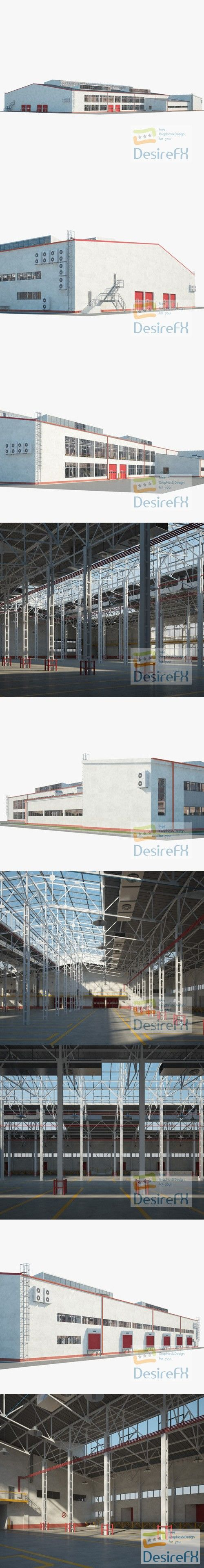 Warehouse 01 Building 3D Model