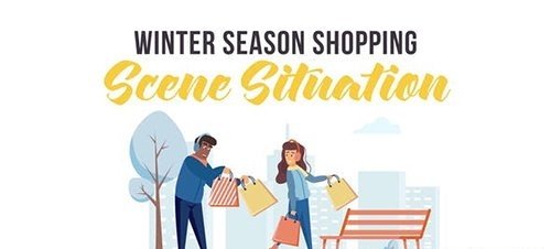 Winter season shopping - Scene Situation 29247075