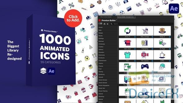 Videohive PremiumBuilder Animated Icons 29597517
