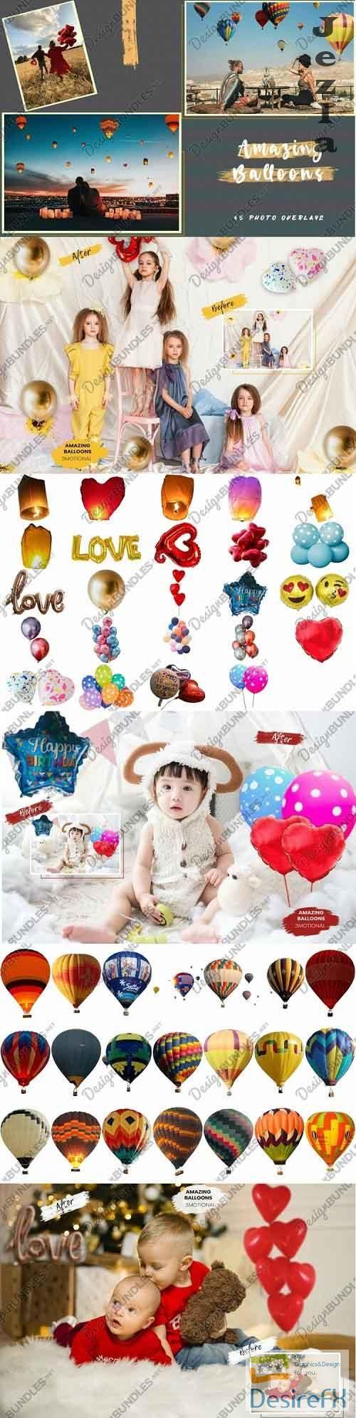 45 Amazing Balloons Photo Overlays - 1163671