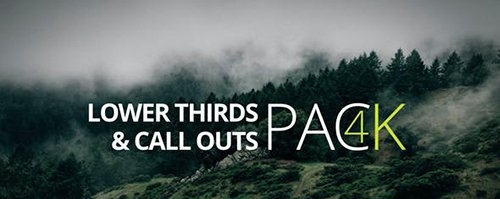 4K- Lower Third & Call Out Pack