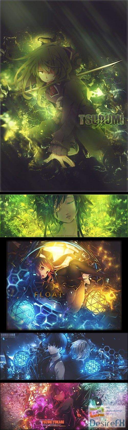5 Awesome Anime PSD Templates Collection