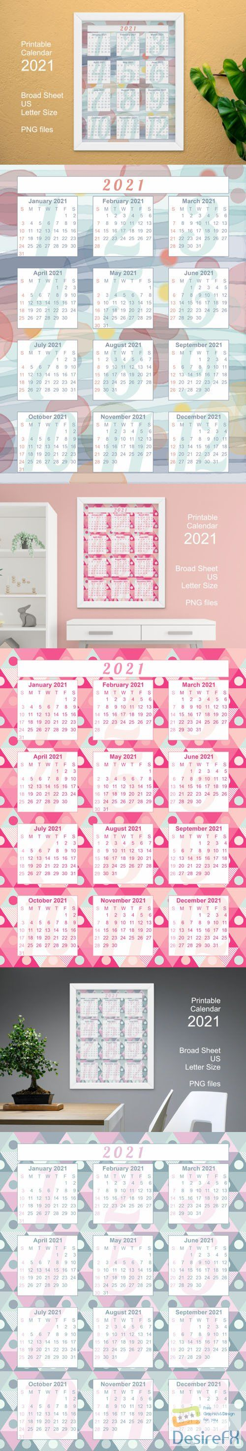 3 Printable Calendar 2021 in PNG