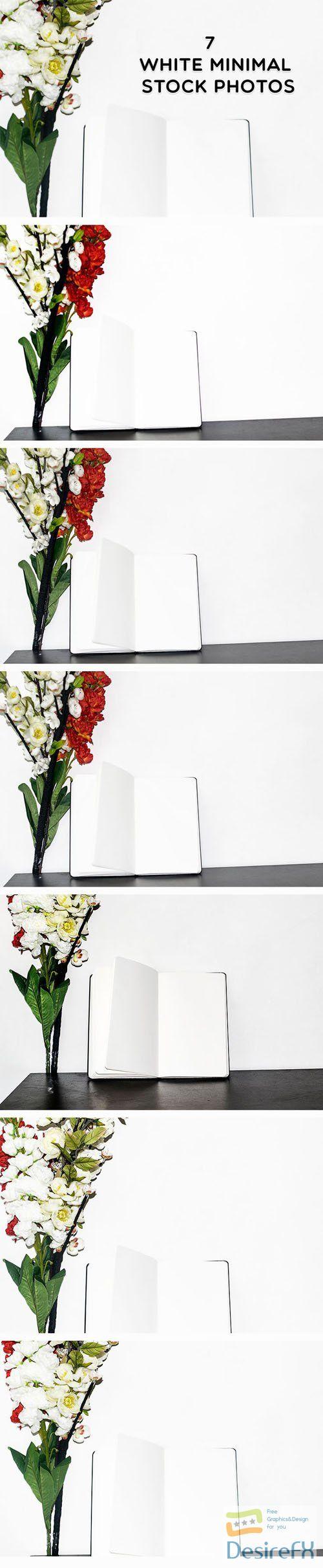 7 White Minimal Floral Stock Photos