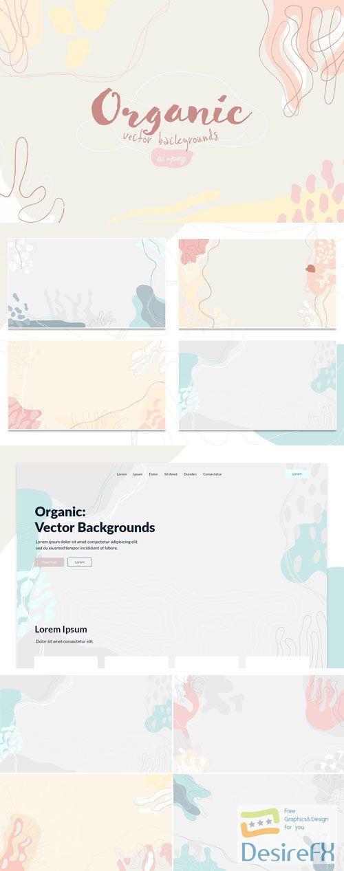 8 Organic Vector Backgrounds