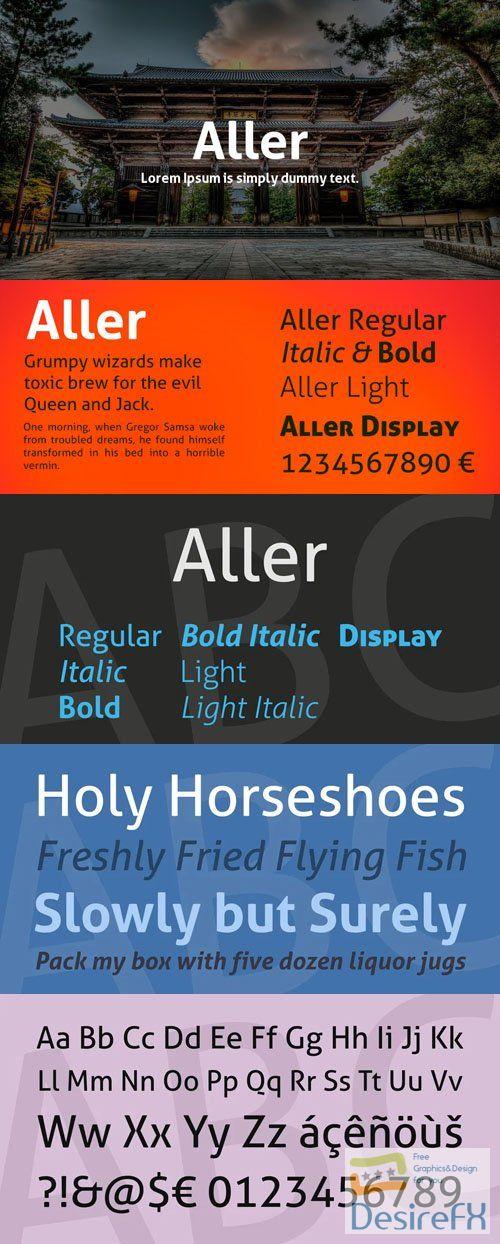 Aller - Sans Serif Font Family 7-Weights