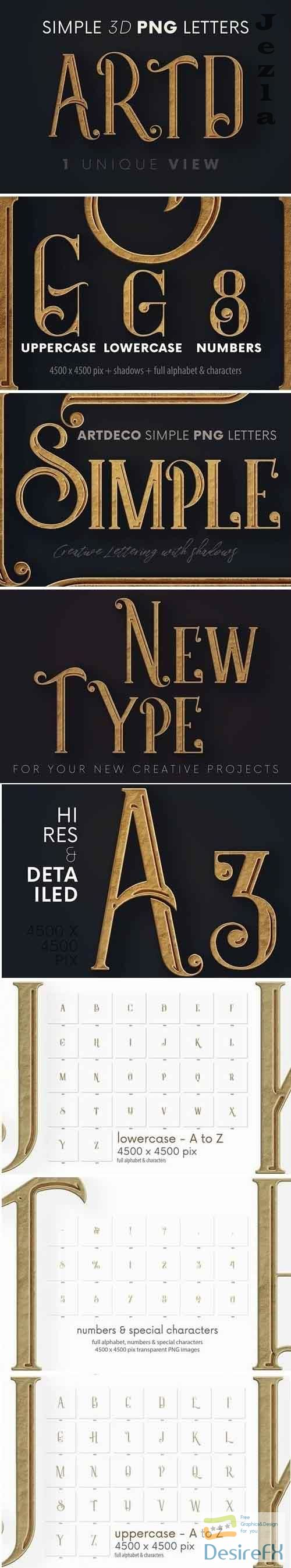Artdeco Simple - 3D Lettering - 5725130