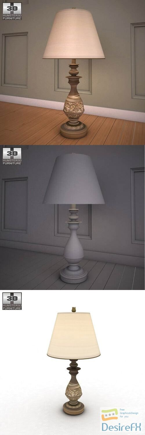 Ashley Cottage Retreat Table Lamp 3D Model