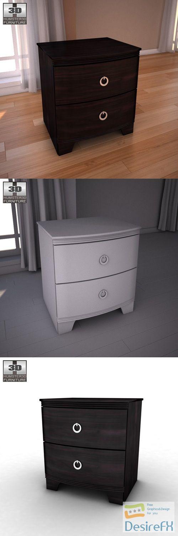 Ashley Pinella Nightstand 3D Model