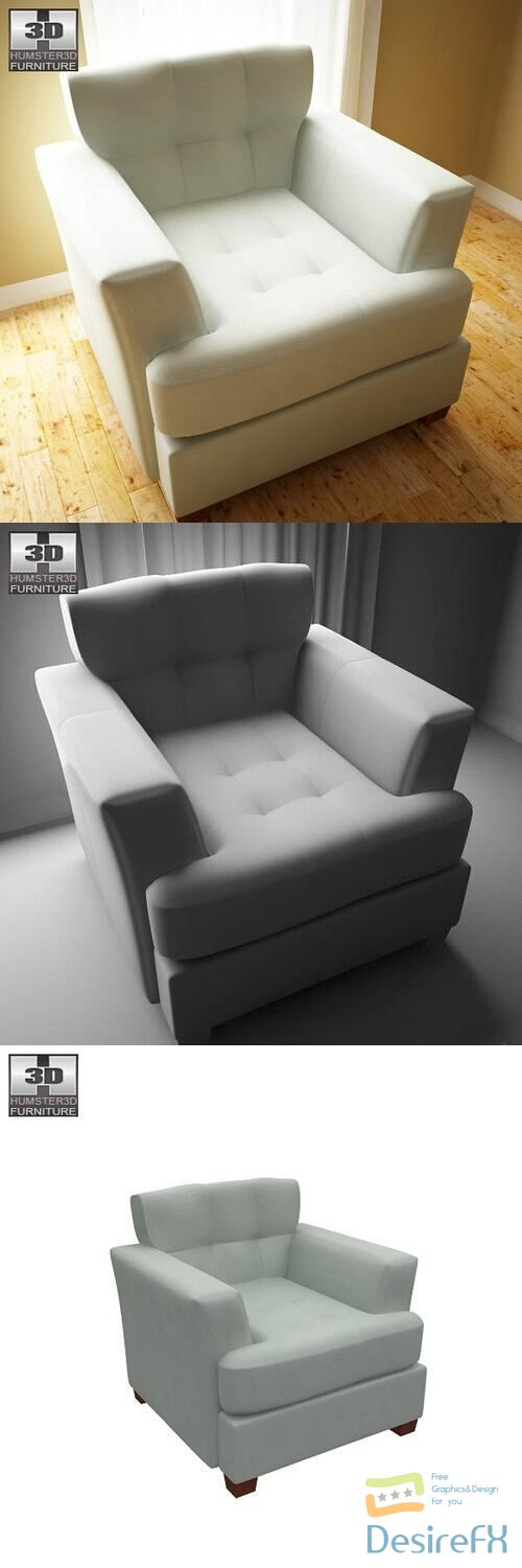 Ashley Zia - Spa Armchair 3D Model
