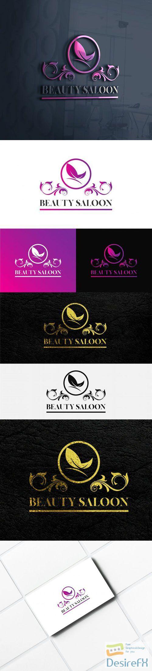 Beauty Saloon Logo Templates for Illustrator