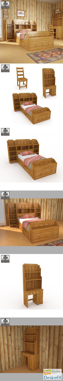 Bedroom Furniture 13 Set 3D Model