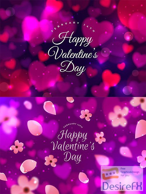 Blurred valentines day illustrations