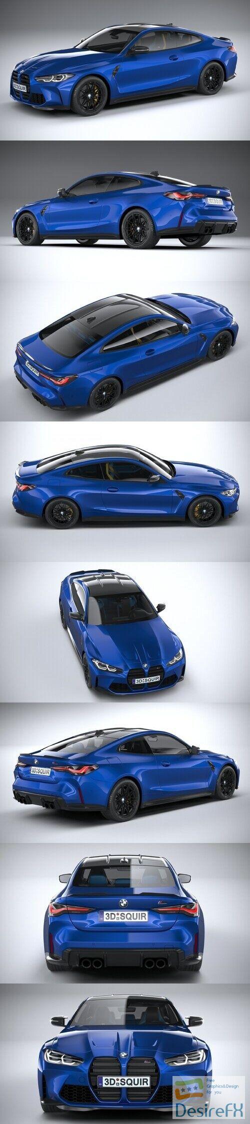 BMW M4 Coupe G82 2021 3D Model