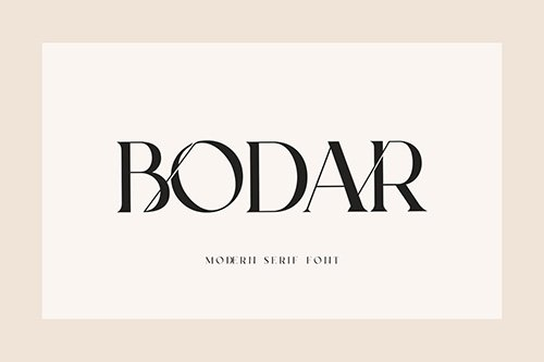 Bodar Serif Display Font