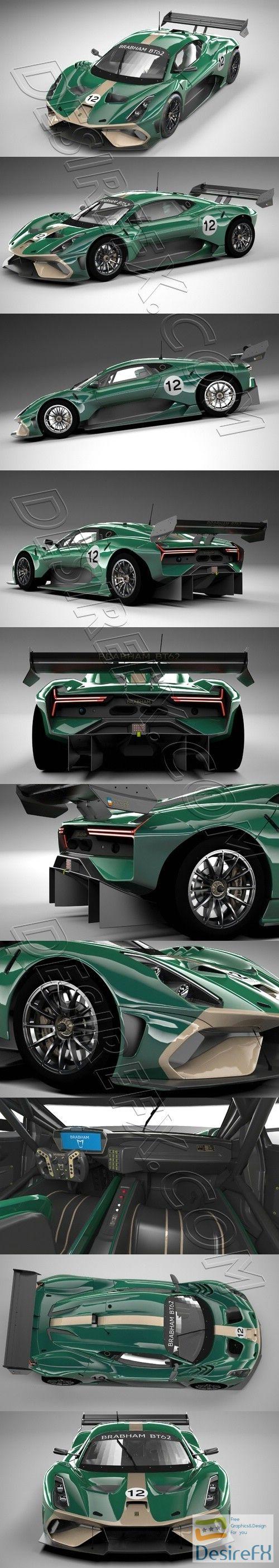 Brabham BT62 3D Model