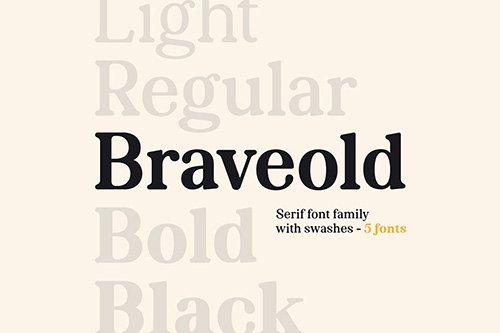 Braveold Font Family