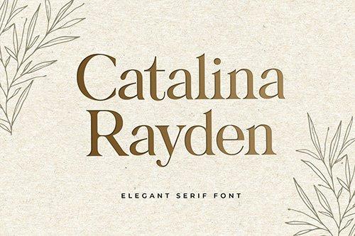 Catalina Rayden Serif Display Font