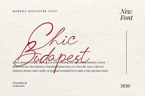 Chick Budapest Signature Font