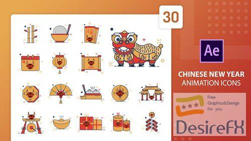 Chinese New Year Animation Icons | After Effects 30202221